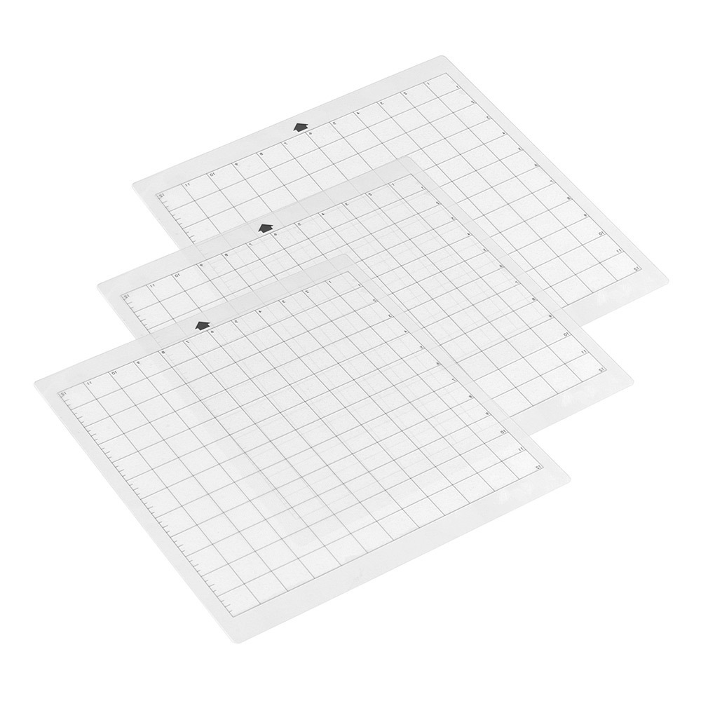 3Pcs/set 12*24in Replacement Cutting Mat Transparent Adhesive Mat With Measuring Grid For Silhouette Cameo Plotter Machine Tools