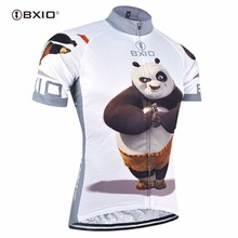 Bxio Spring Autumn Cycling Jerseys Summer Pro Bike Jersey Short Sleeves MTB Bicycle Clothing Funny Panda Maillot Ciclismo 081-J