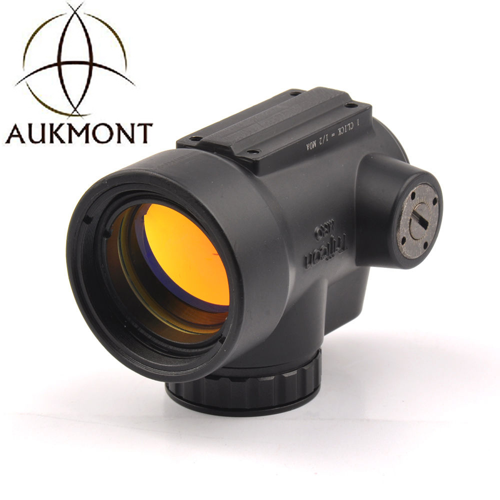AUKMONT Tactical trijicon MRO style 1x red dot sight scope for high and Low picatinny rail mount base hunting shooting M9159 tactical 1x red dot sight scope qd picatinny rail mount hunting shooting black 558 m7101