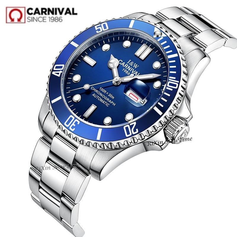 สวิตเซอร์แลนด์ Carnival mens นาฬิกาอัตโนมัตินาฬิกาข้อมือนาฬิกาทหารกีฬานาฬิกา-ใน นาฬิกาข้อมือกลไก จาก นาฬิกาข้อมือ บน   1