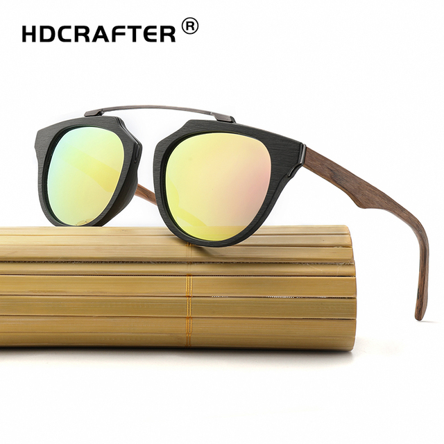 f27c116476b HDCRAFTER 2018 New Vintage Wooden Sunglasses Polarized Classic Mens Wood  Sun Glasses with Bamboo Box