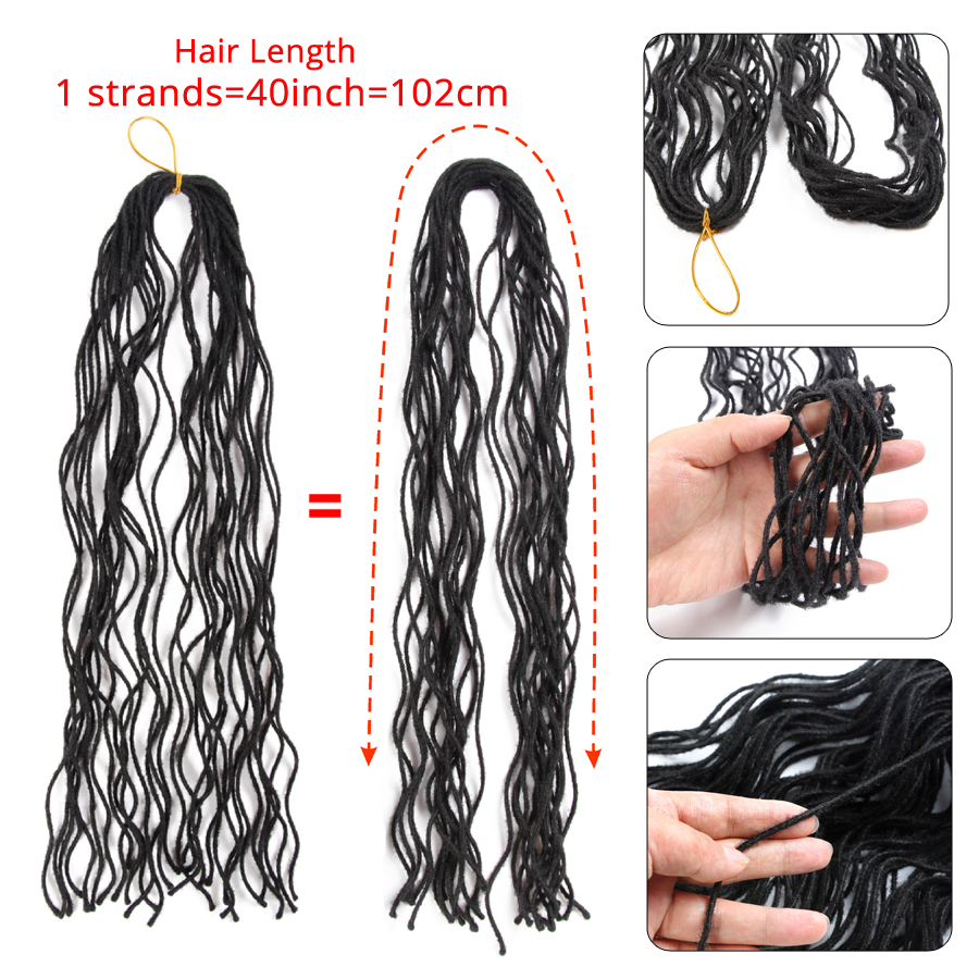 Leeons Wholesale Blonde Curly Mini Long Faux Loc Crochet Hair