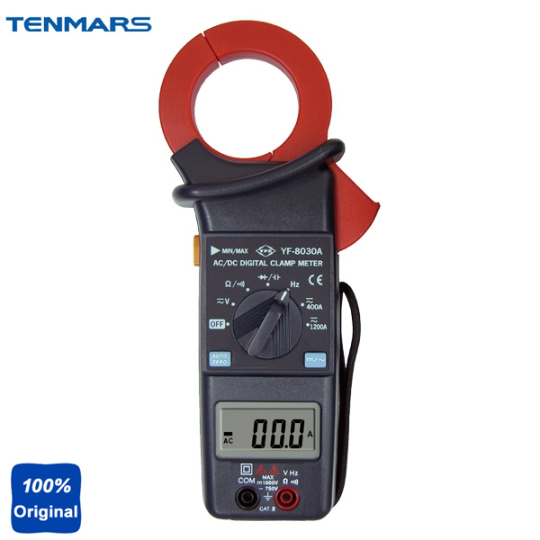 Digital ACV, ACA, DCV, DCA, Resistance, Frequency, Diode, Capacitance, Continuity Tester,  AC Clamp Meter YF-8030A tm 1005 digital ac clamp meter ac transducer with aca output 1 400mv tm1005