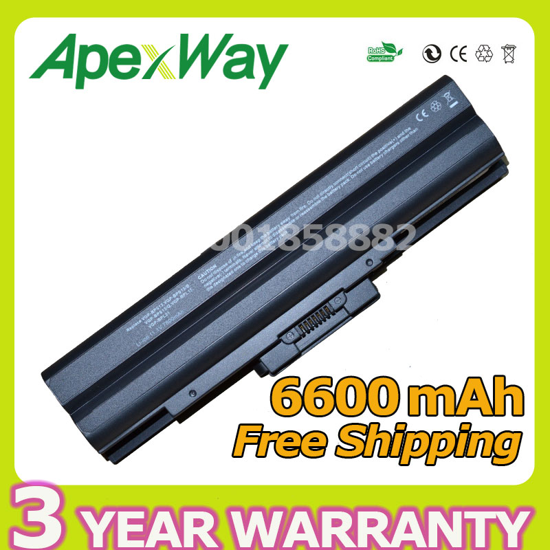 Apexway 9 cell Laptop Battery for Sony VGP-BPS13A/R VGP-BPS13AB VGP-BPS13B/B VGP-BPS13B/Q VGP-BPS21 VGP-BPS21A VGP-BPS21B laptop battery for sonyp vgpvgp bpl21 vg bps21 vgp bps21a vgp bps21 s bps21a b vgp bps21b battery