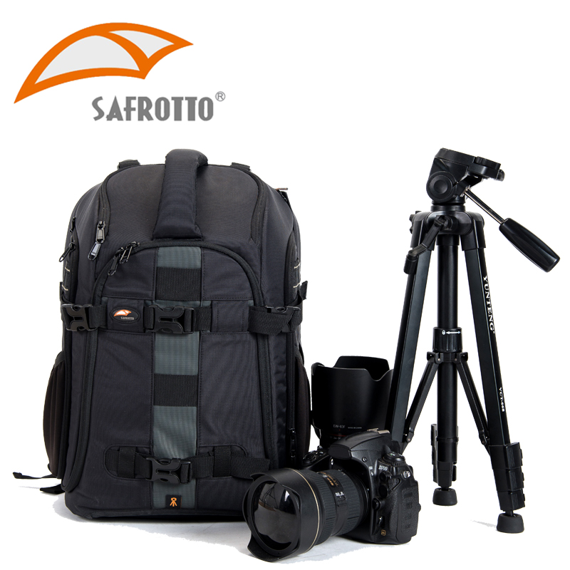 Safrotto Professional Video Photography Tripod Bags Big Capacity DSLR SLR Waterproof Shockproof Camera Multifunctional Backpack цена и фото