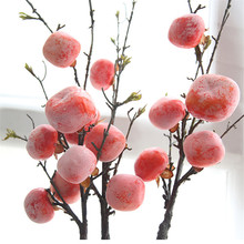 Dried fruit persimmon artificial flower home decoration wedding fake of branches