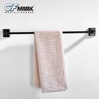 GFmark Black Antique Towel Bar Toallero ORB Surface Hanging Rod Copper Base Bathroom Wall Hanger Towel Holder Porte Serviette
