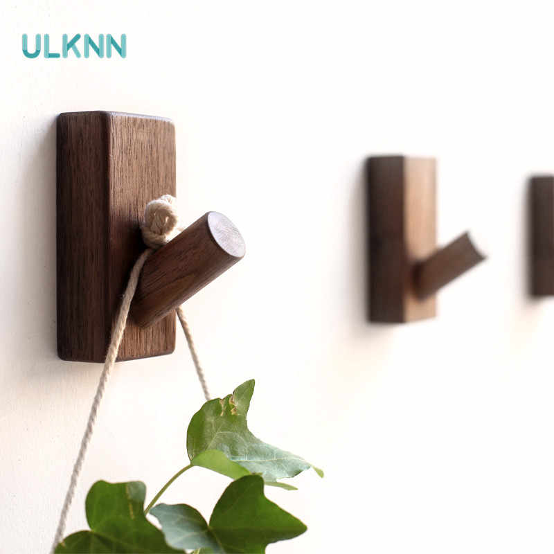 Japan Style Solid Wood Decor Wall Hanger Hook Simple Wooden Children Room Lovely Clothes Rack Nordic Wall Strong Coat Hook