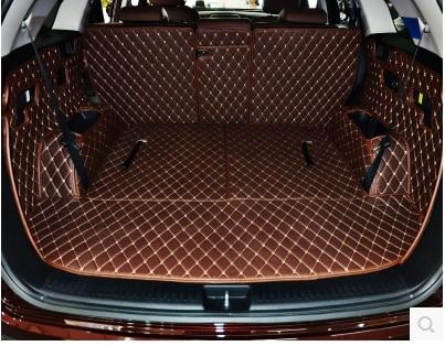 Good! Full set car trunk mats for KIA Sorento 7 seats 2019 durable cargo liner boot carpets for Sorento 2018-2016,Free shipping