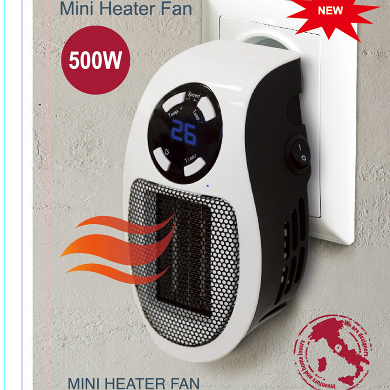 Portable Electric Heater Mini Heater Air Fan Desktop Household Wall Heater Stove Radiator Warmer Machine for Winter 220V