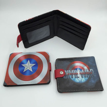 American Movie Captain America: Civil War High Quality Synthetic Leather Short Wallet/Button Purse