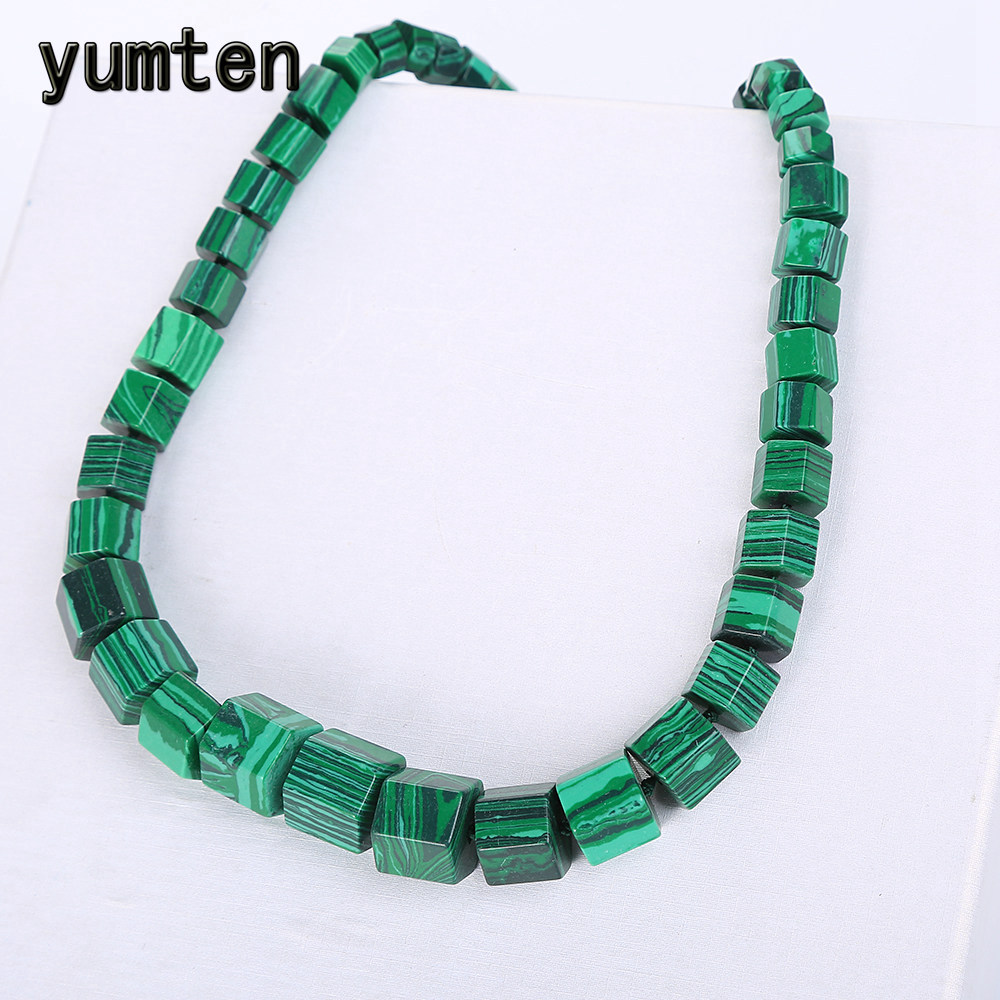 Yumten Malachite Necklace Choker Statement Women Men Magnesite Square Diamond Stone Gemstone Power Crystal Shoker Fine JewelryYumten Malachite Necklace Choker Statement Women Men Magnesite Square Diamond Stone Gemstone Power Crystal Shoker Fine Jewelry
