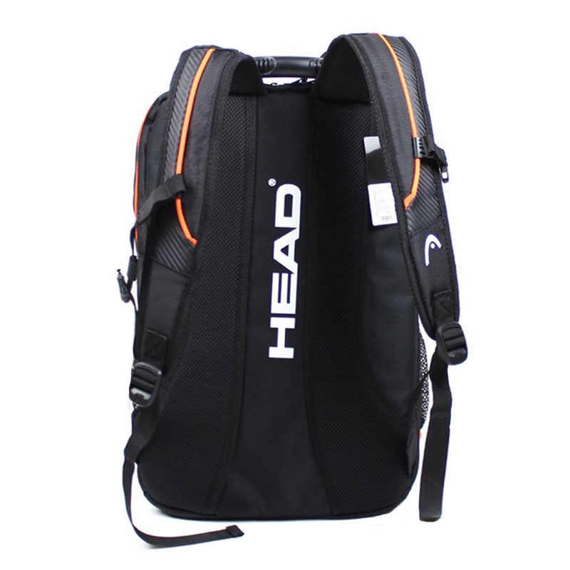 4e37754352b5 ... Оригинальная головка сумка для теннисных ракеток бадминтон Raquete  спортивный рюкзак тренировки рюкзак с обувь сумка Tenis ...