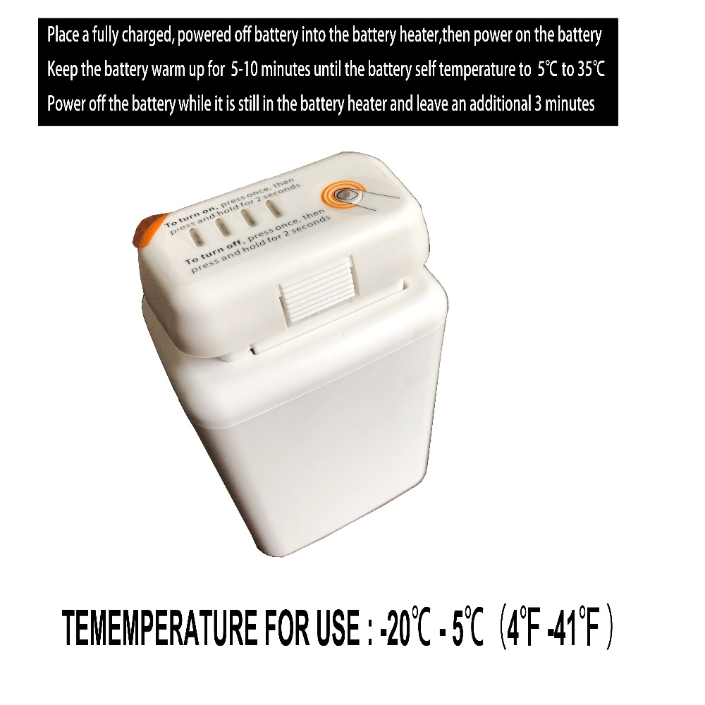 Genuine DJI Phantom 3 Intelligent Flight Battery Heater For Phantom3 Preheat Battery heater phantom канистра пластиковая для гсм phantom 10л