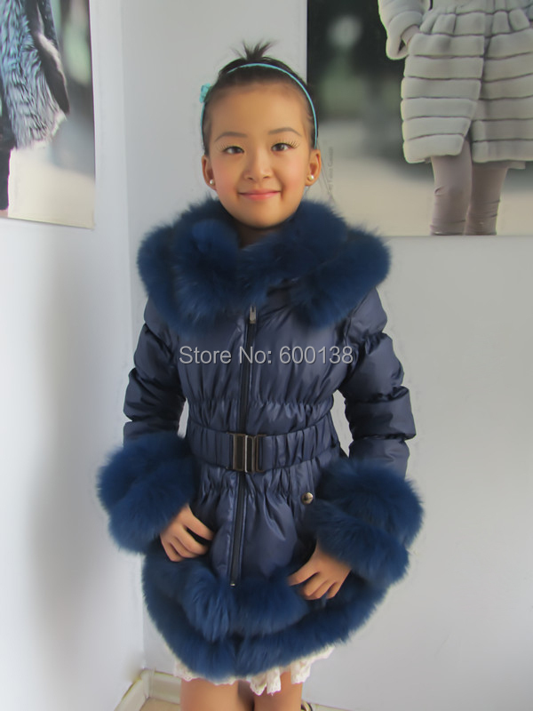 Brezplačna dostava novi slog zimski otroški plašč / priljubljena - Ženska oblačila - Fotografija 3