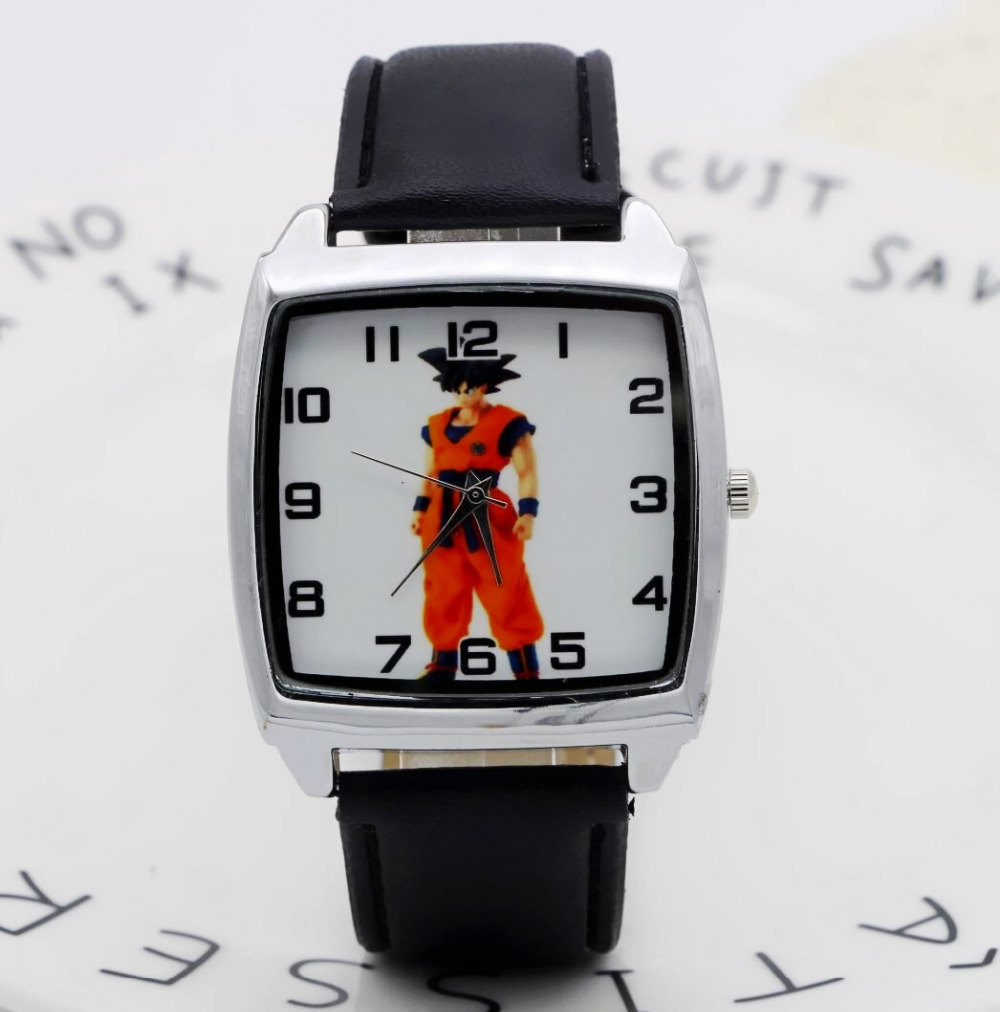 Leather Cartoon 1pcs/lot Wholesale NEW Cartoon Children Dragon Ball Watch Good Gift Kids Watch