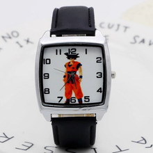 Leather cartoon 1pcs/lot Wholesale NEW Cartoon Children dragon ball Watch Good G
