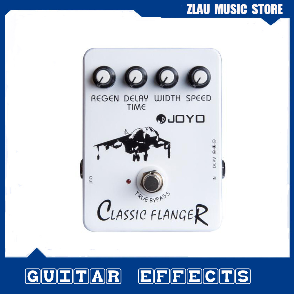 Joyo JF-07 Classic Flanger Guitar Effect Pedal with True Bypass Design for Musical Instrument Top Quality Wholesale Price joyo guitar effects pedals jf 32 hot plexi true bypass design wholesale cheap free shipping