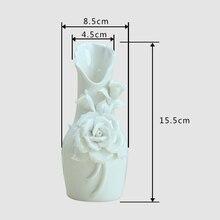 Rose Ceramic Vase Pastoral Home Decoration Floral Crafts