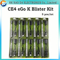 Ego CE4 cigarrillo electrónico Kit Blister ego-K E cig batería CE4 E Cigarette líquido para E cigarro EGo k Kit 5 unids/lote