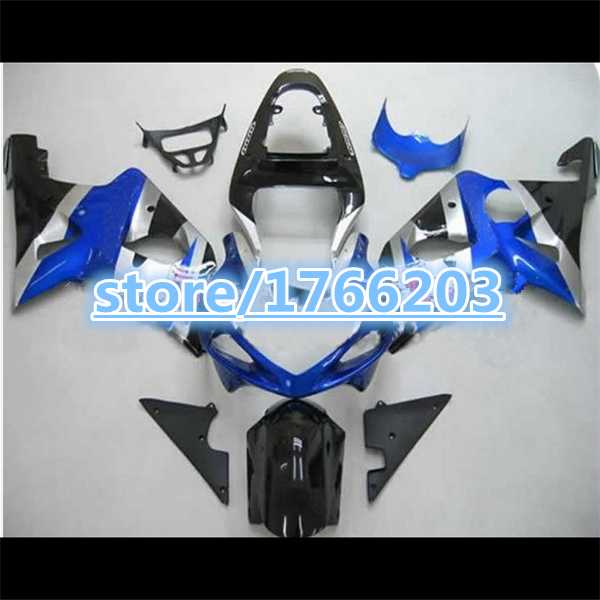 ABS blue silver black racing motorcycle <font><b>fairing</b></font> kit for A GSXR 1000 K2 2000 2001 2002 GSXR1000 00 01 02 <font><b>R1000</b></font> <font><b>fairings</b></font> set image