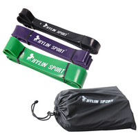 Set Of 3 Natural Latex 41 Strength Resistance Bands Loop Fitness Crossfit Power Lifting Pull Up
