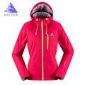 Vector de caparazón blando chaqueta mujeres chaqueta al aire libre a prueba de viento impermeable camping senderismo chaquetas mujer chaqueta de lluvia cortavientos 60024