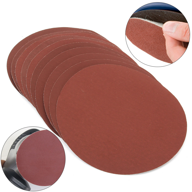 Mayitr 10Pcs Waterproof 6'' Sandeing Disc 2000 Grit Hook And Loop Wet Or Dry Autobody Sanding Discs Wood Polishing Sander Paper