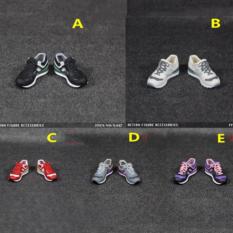 """1//6 Scale Men/'s Black Sport Shoes Hollow Shoes Model for 12/"""" Action Figure"""