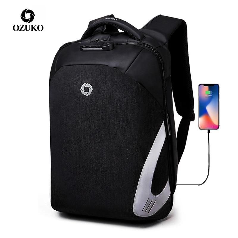 OZUKO Oxford Waterproof Men s Backpack Anti Theft Backpacks for Teenager 15 6 Inch Laptop Backpack
