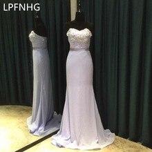 rain Chiffon Flower Wedding Party Gowns