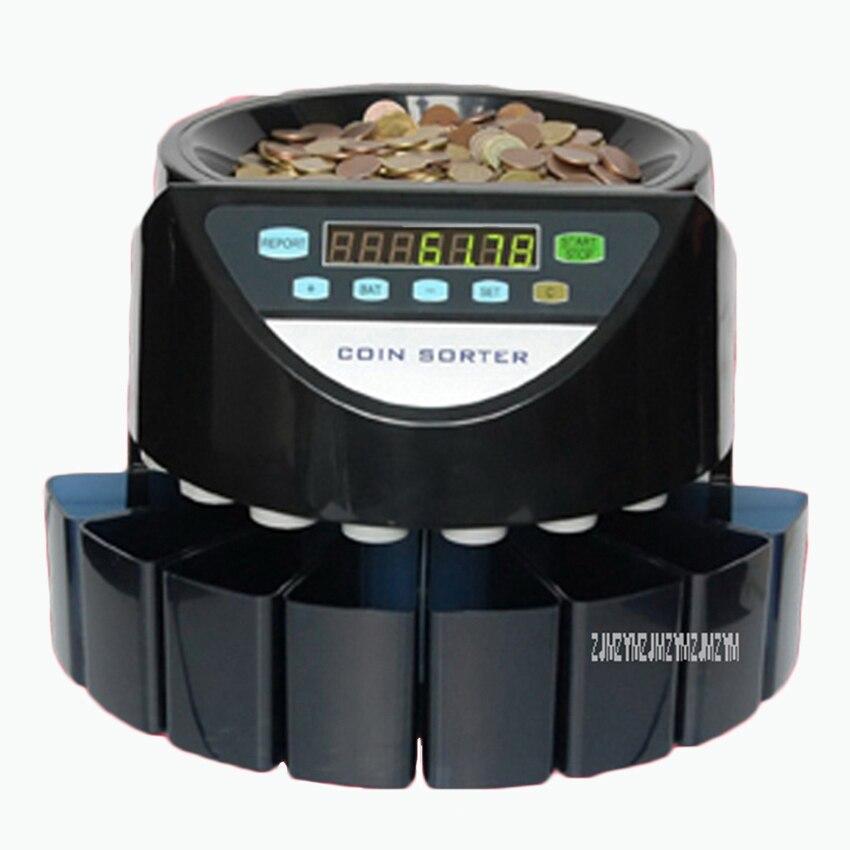 SE 900 220 В/электронный счетчик монет в 110 монет сортировщик Счетная машина для большинства стран монеты 200 шт./мин