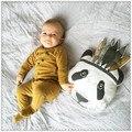 Fashion PP Cotton Panda Baby Pillow Parent-Child Cartoon Design Pillows Boys/Girls White/Black Soft Back Cushion 26*38/40*50cm
