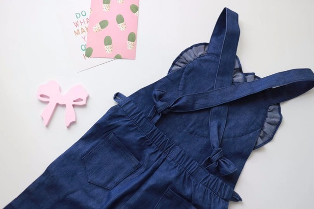 Kids Girls Denim Bell-bottom Overalls Trousers, 2018 Children Toddlers Girls Flares Flowers Overalls Pants, Kids Jean Overlls