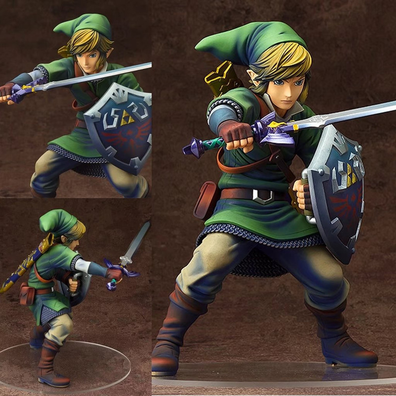 Anime The Legend of Zelda Link PVC Action Figures Collectible Model Toys 20cm anime the legend of zelda 2 a link between worlds link figma 284 pvc action figure collectible model kids toys doll 10 5cm