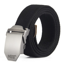 Best Unisex Tactical Belt Top quality 4 mm Thick 3.8 cm Wide Casual Canvas Outdoor Alloy Automatic Buckle Men Nos