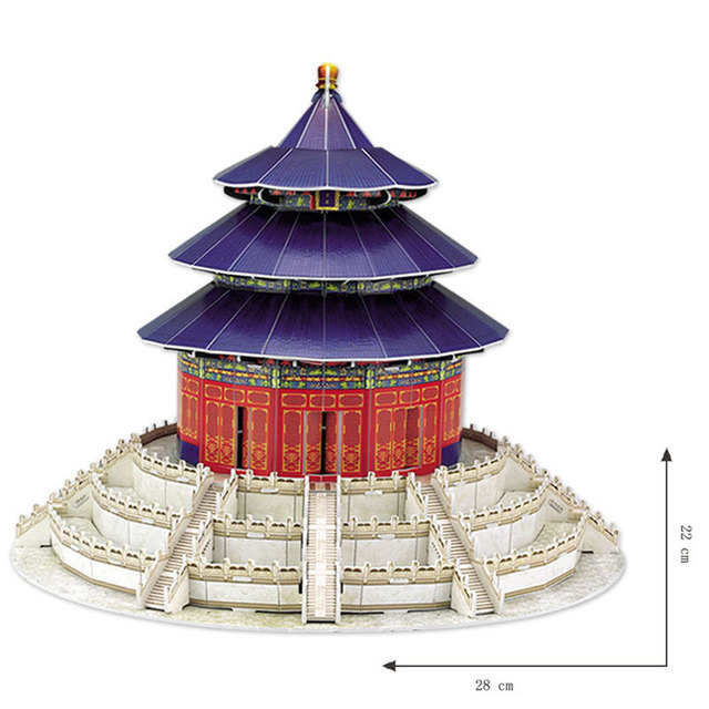 The World Famous Building Ancient Chinese Architecture Temple Of Heaven 3D Puzzle DIY Creative Blocks