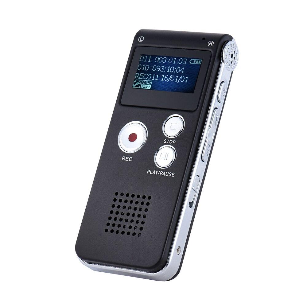 8 ГБ интеллектуальный цифровой аудио речевой телефонный Регистраторы Диктофон MP3 плеера Голос активировать var A-B повторяя