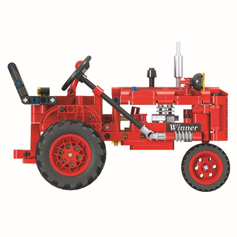 New 302pcs Technic Classic Old Tractor DIY building block Bricks  Model For Kids