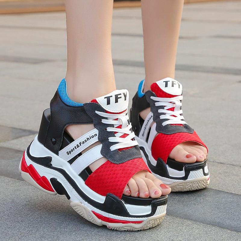 Summer Women Sneaker Sandals Peep-toe