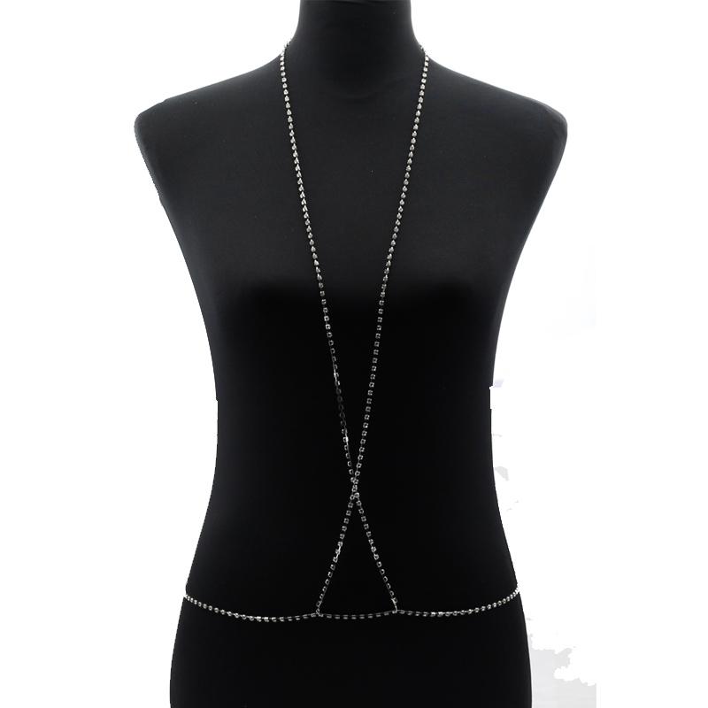 HTB1TDUCQXXXXXbmXpXXq6xXFXXX9 Crystal Crisscross Body Chain Harness Necklace For Women