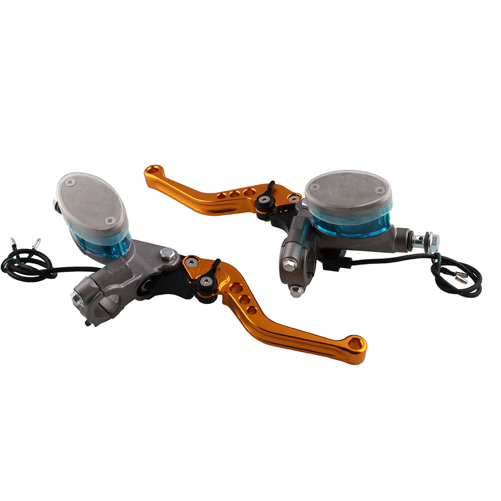 Image 1 - One Pair Universal Brake Hand Brake Lever Brake Clutch Motorcycle Modified Hydraulic Clutch Left Right Brake Pump Free Shipping-in Levers, Ropes & Cables from Automobiles & Motorcycles