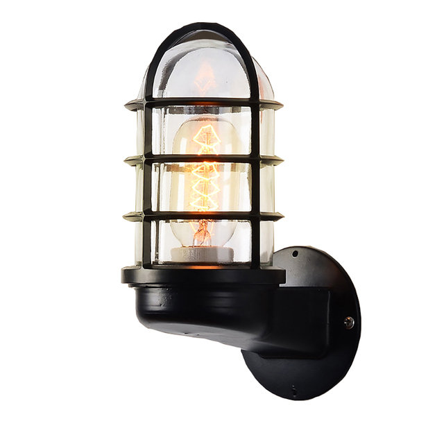 E27 E26 Bulb Wall Lamp Explosion Proof Waterproof Industrial Mount Light Fixture Metal Cage