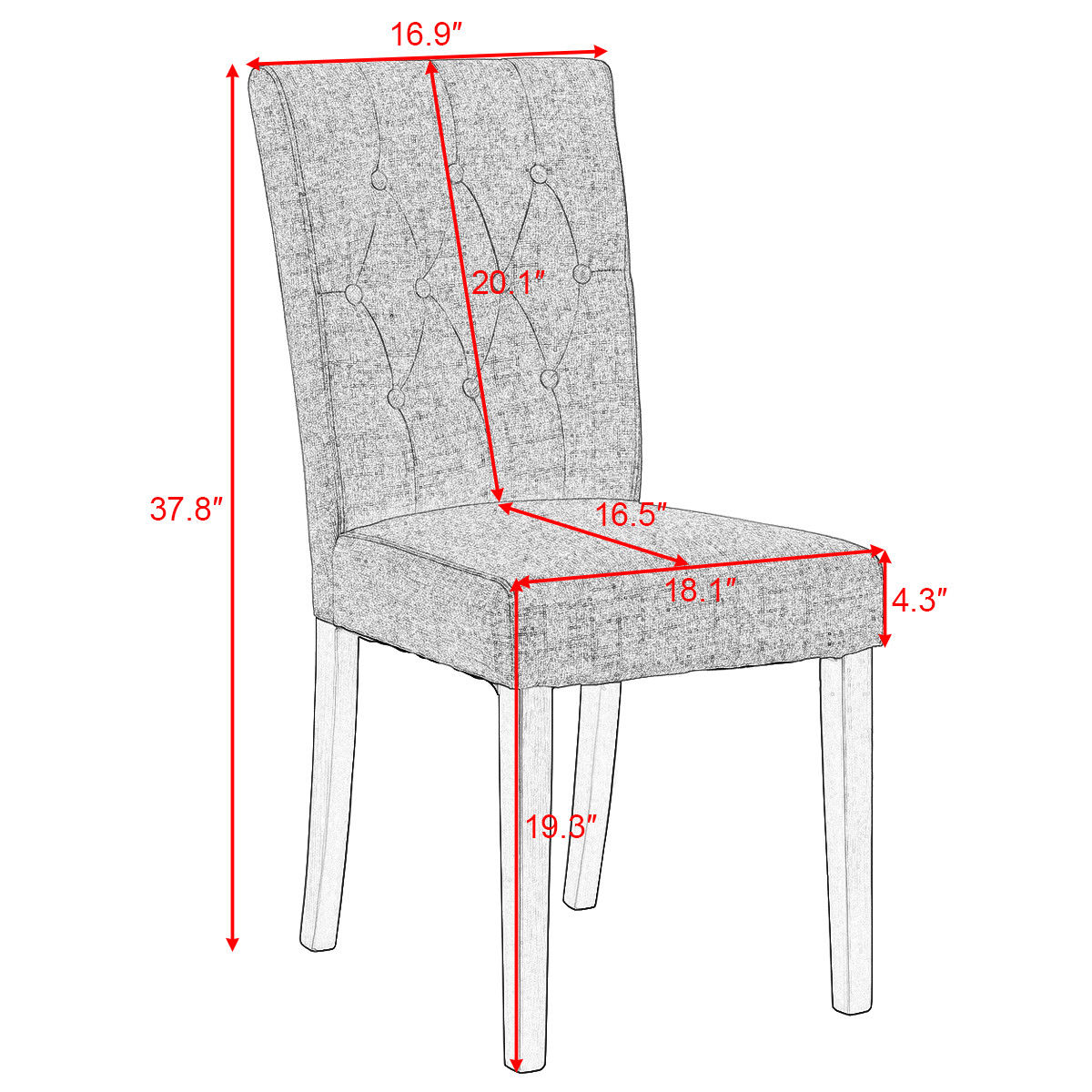 Enjoyable Us 87 99 Giantex Set Of 2 Modern Dining Chair Fabric Armless Accent Tufted Upholstered With Solid Wood Legs Furniture Hw52778Bn On Aliexpress Gmtry Best Dining Table And Chair Ideas Images Gmtryco