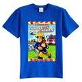 Crianças T shirt do verão de manga curta Pouco Bombeiro Sam equipe de resgate da roupa do bebê 100% algodão do menino da menina do miúdo t camisa