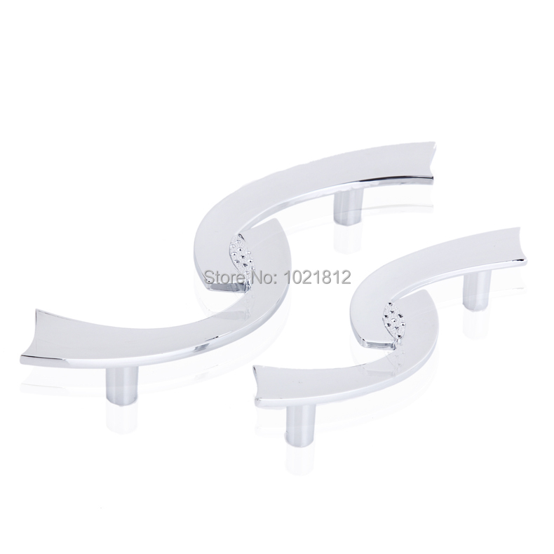 Modern S Pattern Chrome Cabinet Handle Wardrobe Handles Pulls Dresser Drawer Handles Kit ...