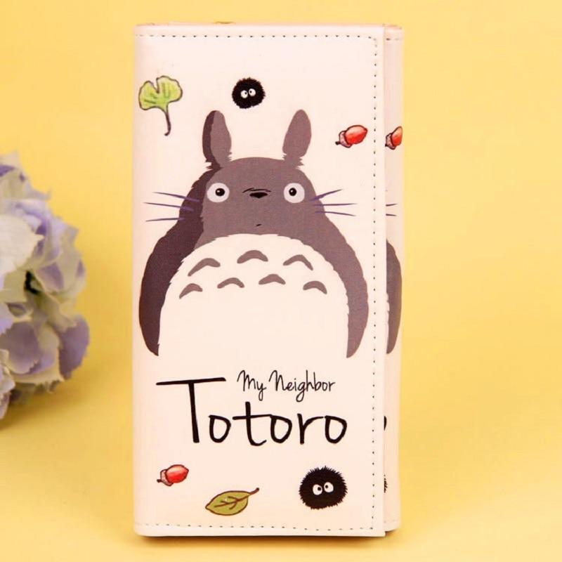 PU leather cartoon totoro printing womens long wallet coin purse small pouch bag bolso bolsa carteira feminina for girls boys