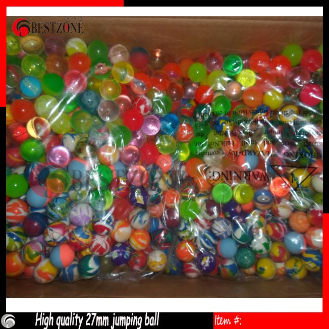 2017 Bif sale 27mm mixed Multi Color Elastic Ball Rubber Toy For Children Hot Selling One pack about 100pcs