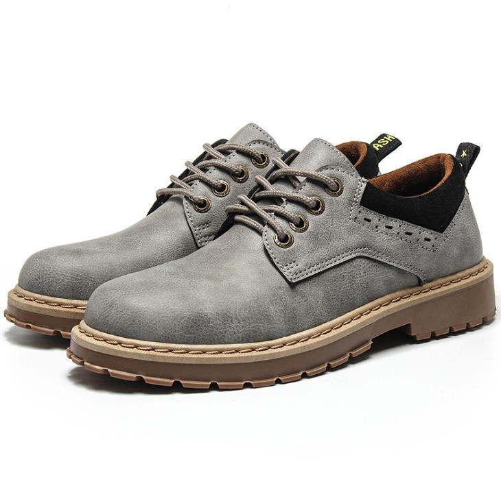 Autumn new Bangbu Mens Korean trend high canvas shoes British casual Martin boots mens tide shoes men
