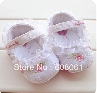Free shipping next baby infant shoe white color priness  girl wear -00789